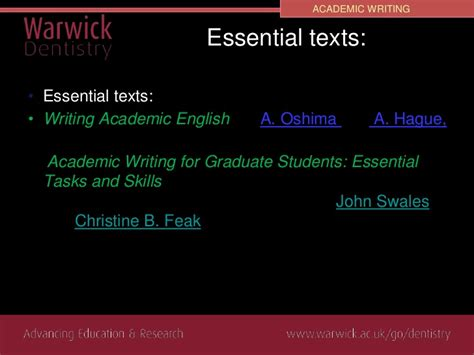 academic writing for graduate students essential tasks and skills scientific writing