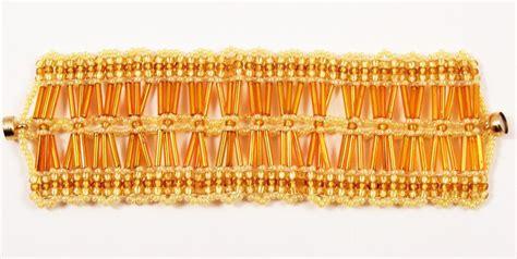 bugle bead patterns cluster of bugle bracelet pattern beading tutorial