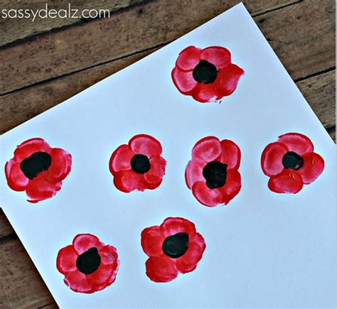 poppy crafts for fingerprint poppy flower craft for crafty morning