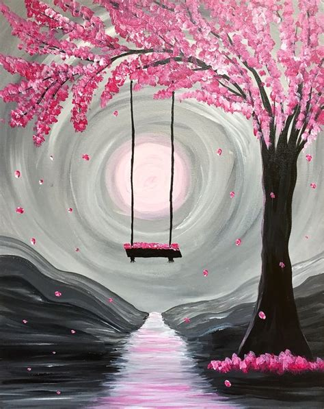 paint nite yerman s paint nite whimsical blossoms paint nite for