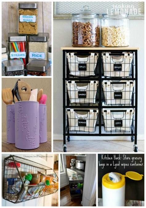 organization ideas for kitchen 30 genius kitchen storage hacks ideas lemonade