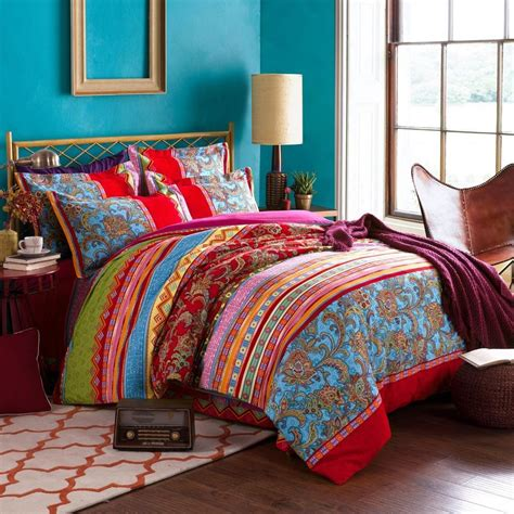 bed covers set bohemian ethnic style bedding sets boho duvet cover set