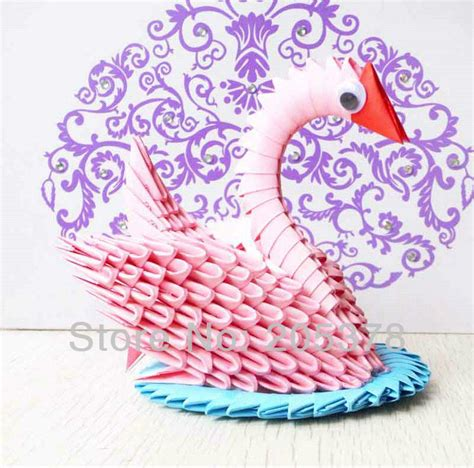 cool origami gifts aliexpress buy 3d handmade origami swan beutiful