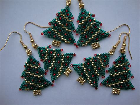 beading craft projects tree earrings seed bead projects
