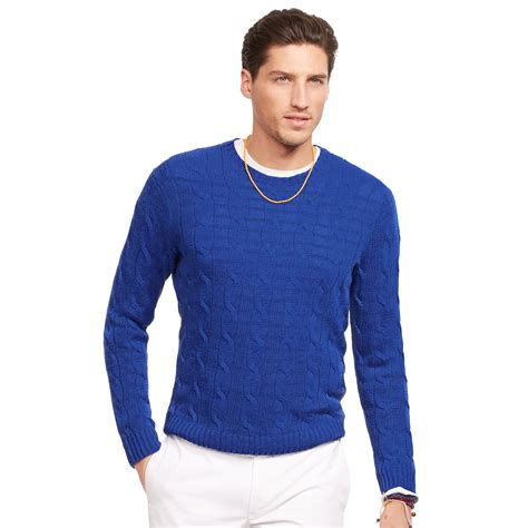 cable knit ralph sweater polo ralph cable knit sweater in blue for