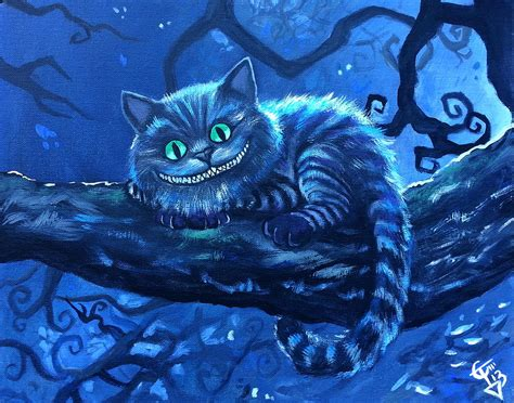 cheshire cats painting cheshire cat painting by tom carlton