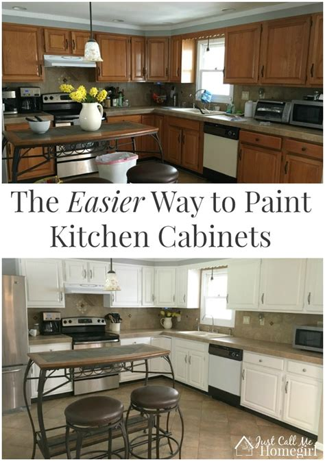 what is the best way to paint kitchen cabinets white the easier way to paint kitchen cabinets just call me