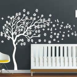 tree decal for nursery wall white tree flowers 3d vinyl wall decal nursery tree