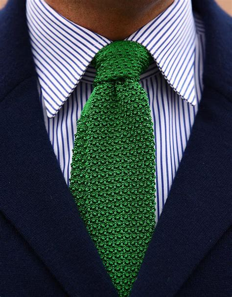 knitted green tie green knit tie purechicness