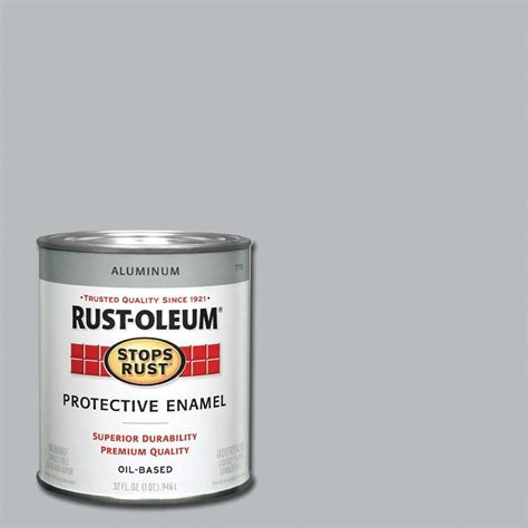 home depot paint quart rust oleum stops rust 1 qt gloss smoke gray protective