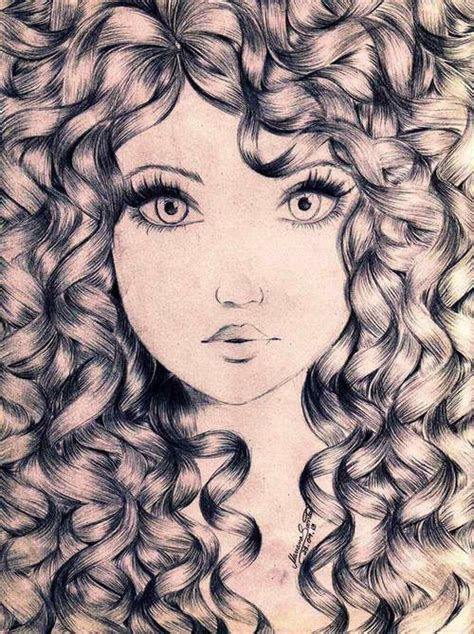 how to draw curly hair with curly hair drawing artsy fartsy