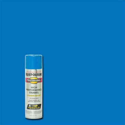 home depot spray paint blue rust oleum professional 15 oz gloss safety blue