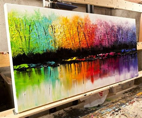 can acrylic paint go on canvas great acrylic painting by osnat tzadok easy arts and