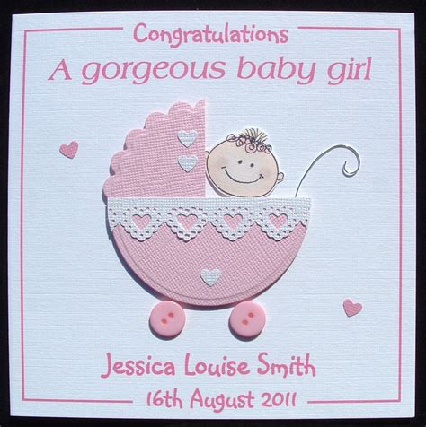 new baby cards to make new baby card new baby card personalised handmade new
