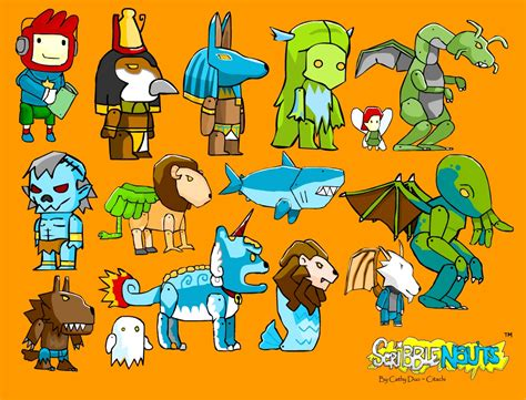 scrabble nauts scribblenauts creatures by citachi on deviantart