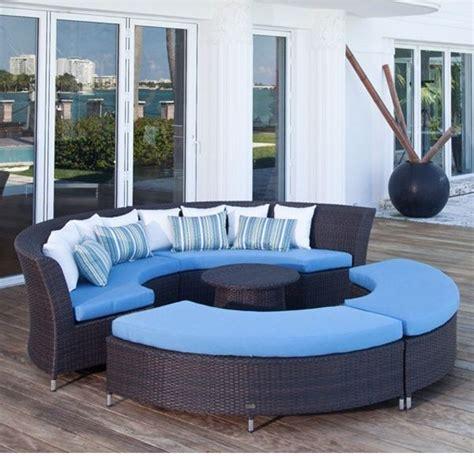 circular outdoor furniture coastal circular outdoor sectional sofa outdoor sofas