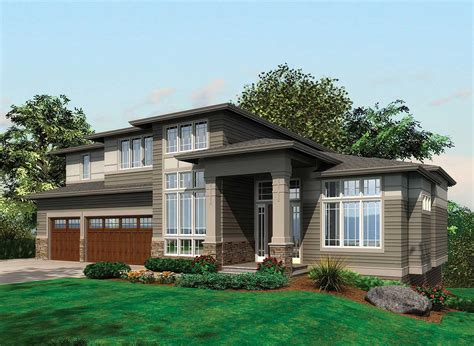 prairie style home plans contemporary prairie with daylight basement 69105am 2nd floor master suite butler walk in