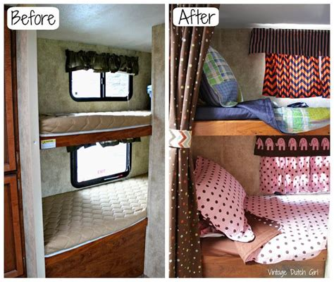 rv sheets for bunk beds travel trailer makeover part 9 bunk beds and windows