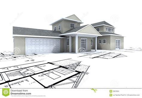 Free A Frame House Plans expensive house with garage on stock images image 3397824