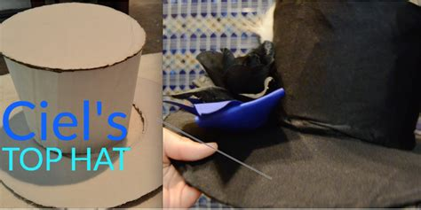 how to make a hat out of card how to make a top hat tutorial