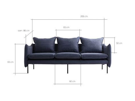 island modern 3 seater sofa with metal legs blue