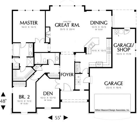Single Level House Plans floor plan for single level house plans one story bedroom