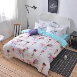 unicorn bedding 100 cotton unicorn bedding set size