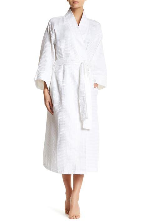 knit robe natori waffle knit robe in white lyst