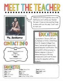 meet the teacher newsletter template by teach create