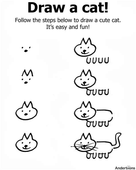 cat step by step how to draw a cat step by easy practice drawing few an