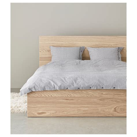 ikea bed malm malm bed frame high white stained oak veneer lur 246 y