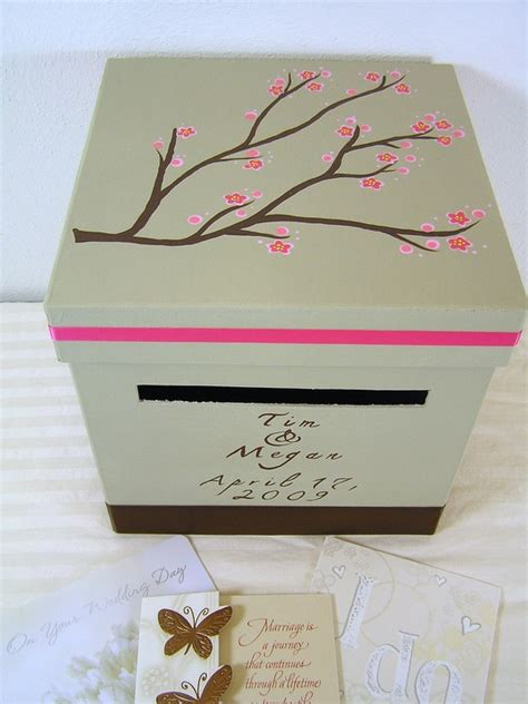 how to make wedding card boxes for reception custom wedding reception card box megan design
