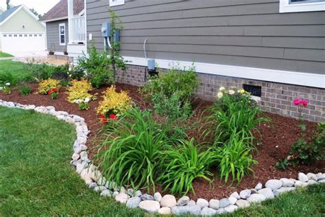 garden bed rocks 17 simple and cheap garden edging ideas for your garden