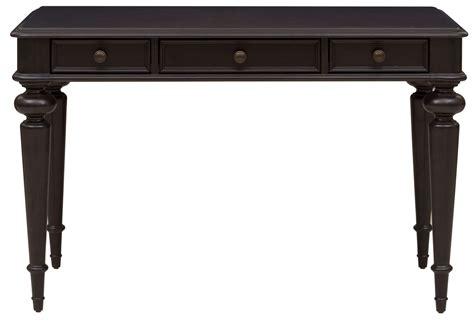 black writing desk rubbed black 3 drawer writing desk ds a133 550 pulaski