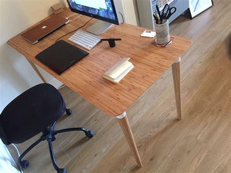 beautiful office desk new beautiful office desk wood bamboo hilver ikea