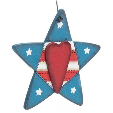 americana ornaments primitive stitched americana ornament