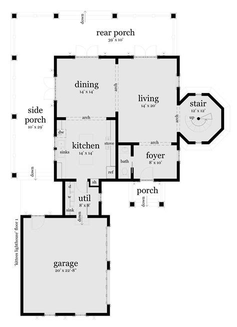 lighthouse floor plans kittee s lighthouse plan tyree house plans