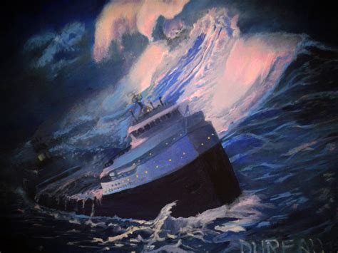 acrylic painting underwater the edmund fitzgerald by dureall on deviantart