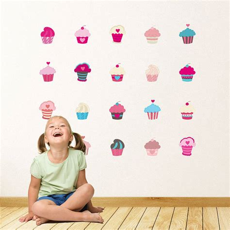 cupcake wall stickers cupcakes wall stickers by parkins interiors