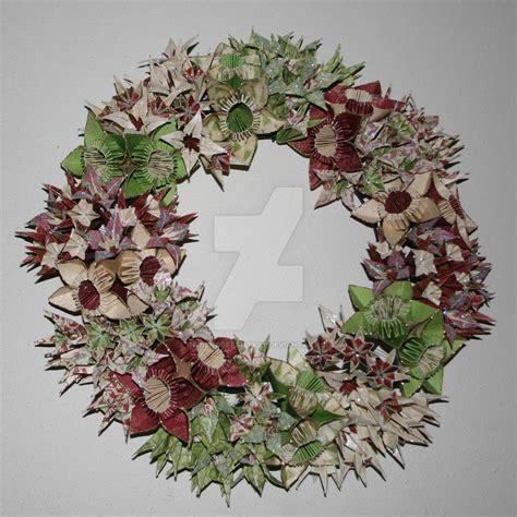 origami wreaths origami wreath 2 by afriendoffantasy on deviantart