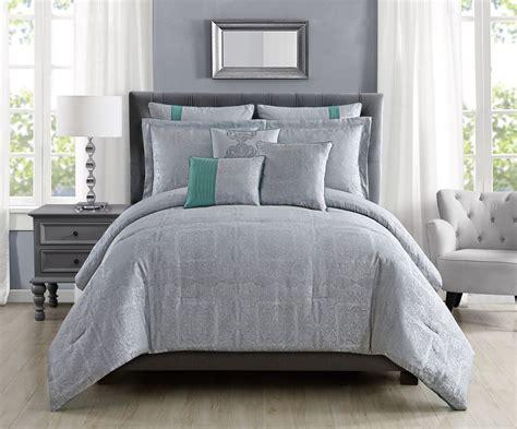 8 king comforter set 8 shannon silver comforter set