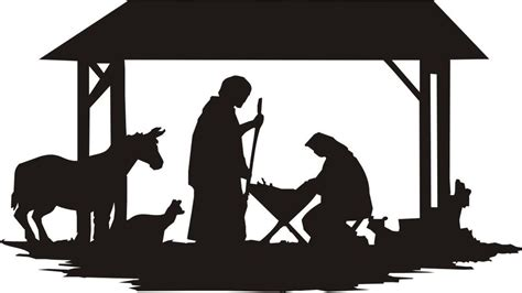 Nativity Silhouette Large N405 Woodworking Yard
