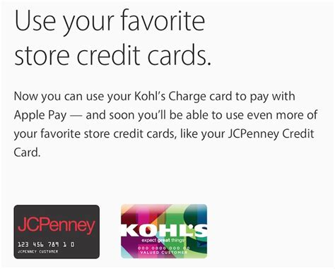 how to make a payment on store card jcpenney now testing store card support for apple pay