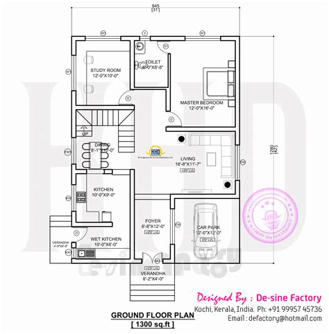 ground floor plans house floor plan of ultra modern house kerala home design and