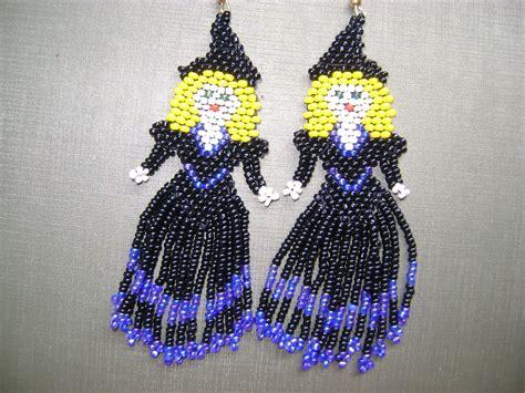 beadwork brincos brinco de bruxinhas em beadwork beadwork earrings