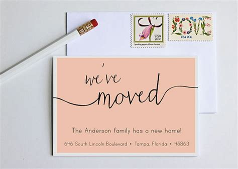 how to make moving cards moving announcement change of address new home by