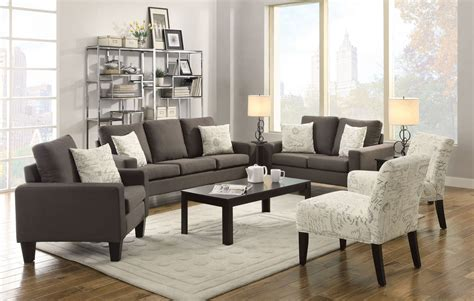 grey living room furniture set bachman grey living room set from coaster 504764