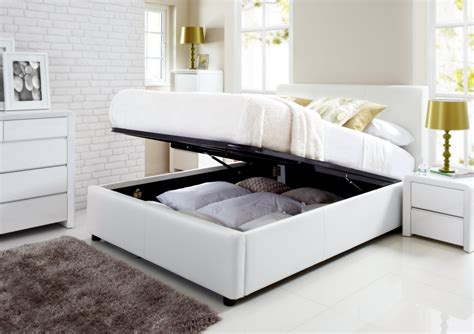 white size bed henley white leather ottoman storage bed ottoman beds beds