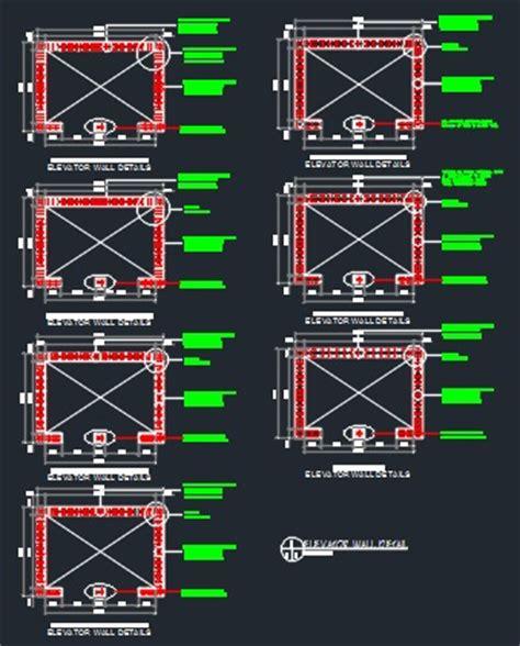 Parking Garage Floor Plan elevator structural details cad files dwg files plans