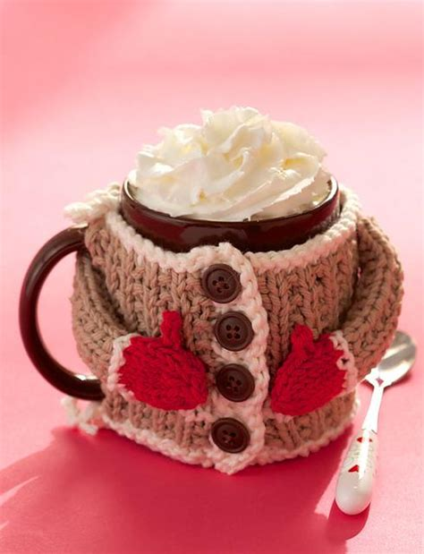 knitted mug hugs free pattern diy mug cozies crochet patterns and inspiration